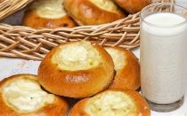 Ватрушка с картофельным пюре из дрожжевого теста рецепт с фото